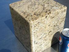 GIALLO VENZIANA GRANITE CREMATION URN / SCUPLTURE PEDASTAL/ SECRET STASH BOX