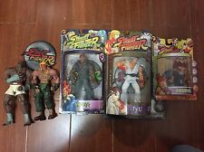 Street Fighter Round One 1 2 Action Figures Lot Of 5 Rare Alex Sagat Ryu Akuma