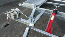 2 Gang Seilwinde 1450 kg m. 8 Meter Stahlseil u. Sicherheitshaken PROFESSIONAL