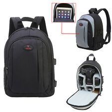 Waterproof Camera Phonto Backpack Shoulder Bag DSLR Case For Canon Nikon Black
