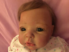 Heirloom Realistic Reborn Baby SADIE  - OOAK Artist Creation Doll -  Blue Eyes