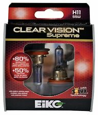 EiKO H11 Clear Vision Supreme Halogen Bulb Pack of 2