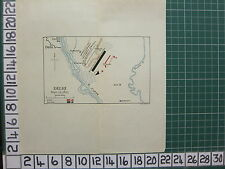 MAP/BATTLE PLAN ~ DELHI SEPT 12 1803 ~ BRITISH & MAHRATTAS 2nd POSITION KUNDLI