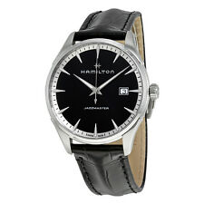 Hamilton Jazzmaster Black Dial Mens Leather Watch H32451731