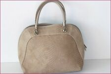 Sac Cabas Cuir Beige Porté Main Made In Italy TBE