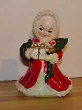 NAPCO CHRISTMAS SPAGHETTI HOLIDAY GIRL & PACKAGES 7.5""