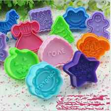 Soft Silicone Cookie Biscuit Cutter Stamp Mold Fondant Cake Sugar Craft 1 Pcs Y