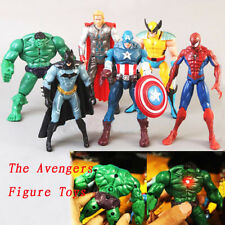 6 pièces The Avengers Hulk+Capitaine+Carcajou+Batman+Spiderman+Thor Figurine