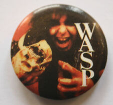 "WASP Blackie Lawless Original VTG 1980`s Button Pin Badge(25mm-1"")w.a.s.p."