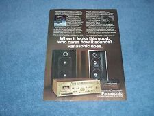"""1978 Panasonic Stereo Speaker Systems Vintage Ad """"When it LooksThis Good..."""""""
