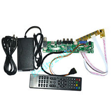 HDMI+USB+VGA+AV+TV LCD Controller Board Kits +12V 4A Power supply DIY LED Panels