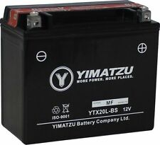 Yimatzu GTX20L-BS Battery Replaces YTX20L-BS, PTX20L-BS, ETX20L-BS, YTX20L