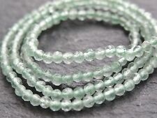 "TINY 2.3mm MICRO FACETED GREEN AMETHYST / PRASIOLITE RONDELLES, 13"", 170 beads"