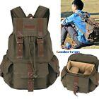 Vintage DSLR SLR Canvas Large Camera Bag Backpack Rucksack For Canon Nikon Sony
