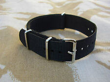 SAS,SBS,POLICE,SO19,CO19,SWAT - Black Heavy Duty Nylon g10 Military Watch Strap