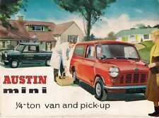 Austin Mini 1/4 Ton Van & Pick Up 1962-66 UK Market Sales Brochure