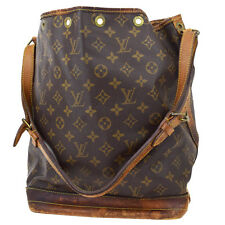 Auth LOUIS VUITTON Noe GM Shoulder Bag Monogram Leather Brown M42224 08A361