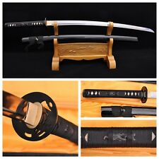 JAPAN SAMURAI SWORD KATANA FOLDED HIGH CARBON STEEL RAZOR SHARP BATTLE READY #72