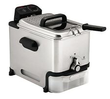 T-fal 3.5 Liter Immersion Deep Fryer Oil Filtration -Stainless! EZ to clean New!