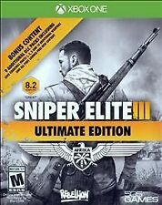 SNIPER ELITE III ULTIMATE EDITION XONE ACTION NEW VIDEO GAME