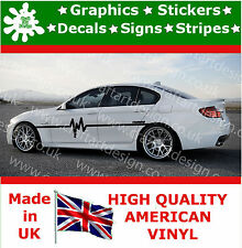 BMW Turbo Racing Stripe Stickers Kit X 2 Car Decals Large Side Car Vinyl Race 6