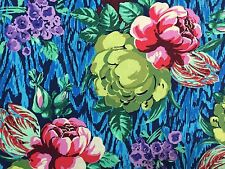 By 1/2 Yard ~ Amy Butler Cotton Fabric ~ Hapi ~ Tapestry Rose Sapphire ~ Flowers