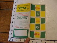 vintage Paper--1957 SPAIN ATESA rent a car service 72 pages.