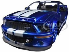 2008 FORD SHELBY MUSTANG GT500KR BLUE 1/24 DIECAST MODEL CAR BY JADA 96729
