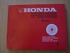 Generator Honda EM EMS EB EG 3800 4000 Parts Catalogue Parts catalog list