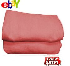 2 PINK Thermal Hospital Blanket Twin Size 66X90 Snagfree 100% Cotton Brand New