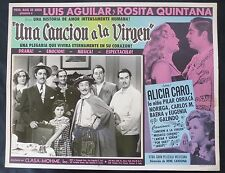 "LUIS AGUILAR 'UNA CANCION A LA VIRGEN"" EL CHICOTE R. QUINTANA LOBBY CARD PHOTO"