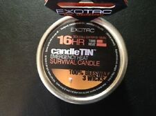 Exotac 16-HR CandleTIN (Emergency Heat Survival Candle) 3 Wick HOT Burning