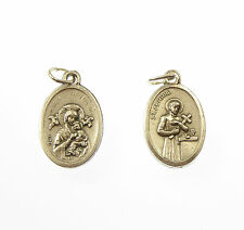 St. Gerard silver metal medal for rosary beads pendant 2cm Catholic gift