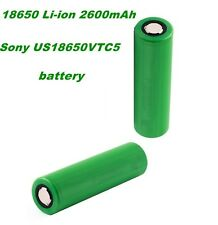 2 X 18650 Li-ion 2600mAh Sony US18650VTC5 BL005 US
