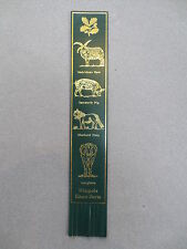 BOOKMARK LEATHER Wimpole Home Farm Hebridean Ram Tamworth Pig Shetland Pony