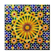 MOROCCAN DESIGN Ceramic WATERPROOF WALL FEATURE Tile Coaster 87389569