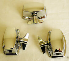 NEW 3 Chrome Floor Tom Leg Bracket Mount for Tom Drum Set Build Restoration