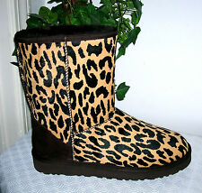 UGG Australia Classic Leopard Leather Animal Print Boots Size us 7 new UGG Boot