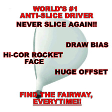 #1 OFFSET ANTI-SLICE DRAW CLOSED FACE WHITE ROCKET-HIT IT STRAIGHT-CUSTOM DRIVER