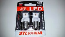 Sylvania RED ZEVO SUPER BRIGHT LED Lamps Bulbs 7506R 1156 1141 OSRAM FREE SHIP