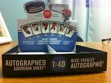 CANADA POST 2016 GREAT CANADIAN FORWARDS HOCKEY STAMP CARDS EMPTY DISPLAY BOX