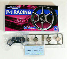 "Aoshima 1/24 Buddy CLub P-1 Racing 16"" Wheel & Tire Set For Models 5251 (12)"