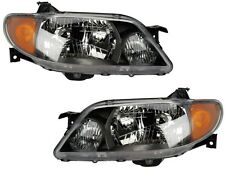 2001 2002 2003 MAZDA PROTEGE SEDAN METAL BEZEL HEAD LAMP LIGHT SET RIGHT & LEFT