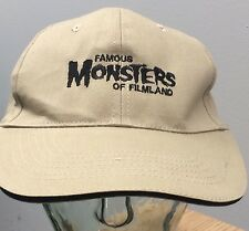 Famous Monsters Of Filmland Official Embroidery Tan Baseball Cap