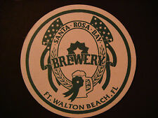 Beer Coaster Mat ~*~ SANTA ROSA BAY Brewery ~ Ft Walton Beach, FLORIDA ** CLOSED