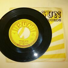 ROCKABILLY 45 RPM RECORD - JERRY LEE LEWIS - SUN 384 - with Sun Sleeve
