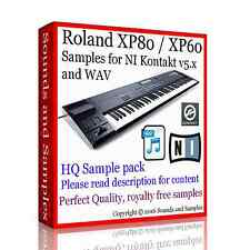 Roland XP 80 / XP 60, HQ Samples for KONTAKT 5x NKI. New, delivered on 10 DVDs.