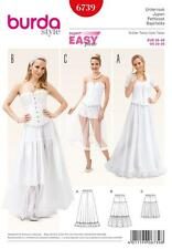 BURDA SEWING PATTERN MISSES' SUPER EASY Underskirts of  tulle 10-20 6739 BURDA