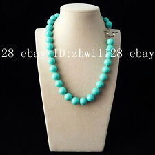 Natural AAA+ 12mm turquoise color south sea shell pearl fashion necklace 18''