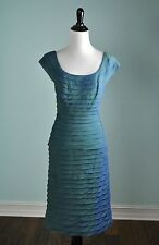 TADASHI SHOJI Collection $308 Tiered Iridescent Lined Evening Dress Size 12